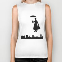 mary poppins Biker Tanks featuring Mary Poppins by TheWonderlander