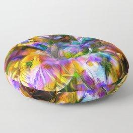 colorful bubbles Floor Pillow