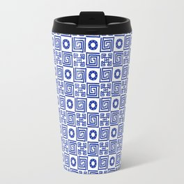 Lines and Shapes - Dutch Blue Travel Mug