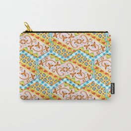 Gypsy Caravan Blue Gingham Carry-All Pouch