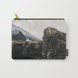Cozy Mountain Cabin In Iceland - Landscape Photography Carry-All Pouch