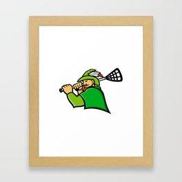 Archer Lacrosse Sport Mascot Framed Art Print