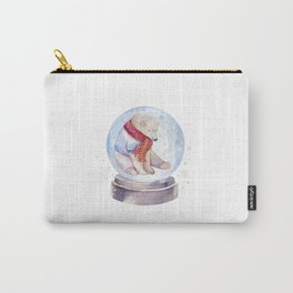 Bear Snow globe Carry-All Pouch