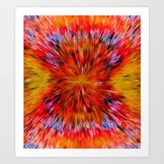 Splattered 60's - Painting Style Art Print