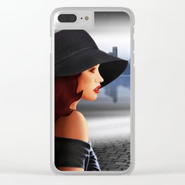 The beauty at night with vintage car Clear iPhone Case