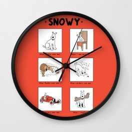 Snowy Meme Wall Clock