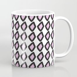 Digital Vector Graphic Black & Violet Diamonds Coffee Mug
