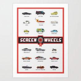 Screen Wheels - Collection Art Print
