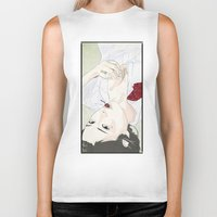 cherry Biker Tanks featuring cherry by SEVENTRAPS