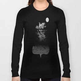 Then There is Cold... in Black and White Long Sleeve T-shirt