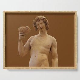 "Michelangelo Buonarroti ""Bacchus"" Serving Tray"