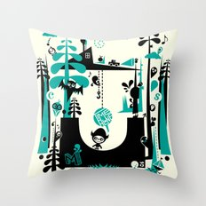 Time Alone Throw Pillow