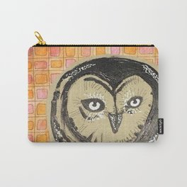 Grid with Owl Carry-All Pouch