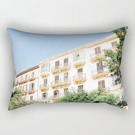White Wall, Ibiza, Spain - Wall Art Photo Print Rectangular Pillow