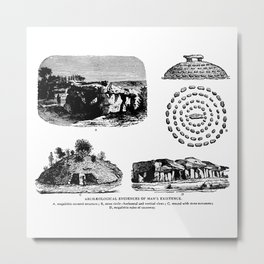 Archaeological Evidences Metal Print