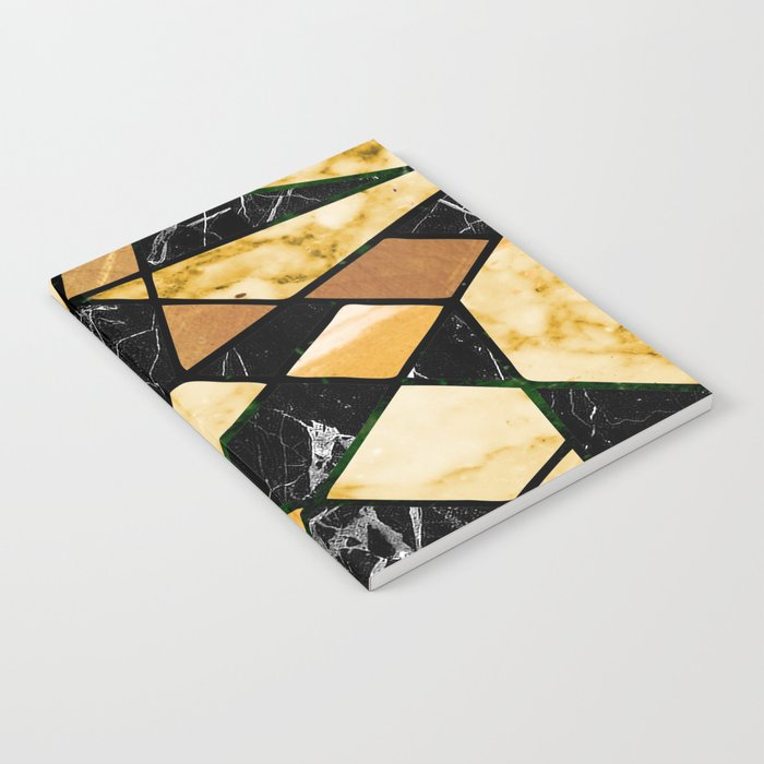 Abstract #460 Marble and Metal Notebook