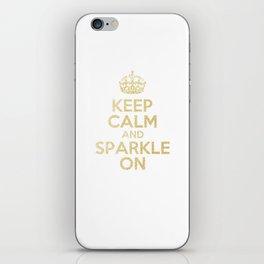 Keep Calm & Sparkle On iPhone Skin