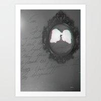 angel wings Art Prints featuring Wings ~angel by KellyAnn