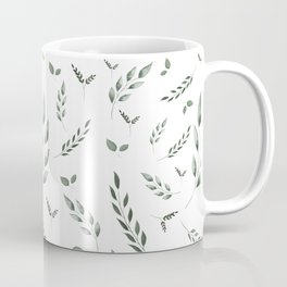 Watercolor Greenery Pattern Coffee Mug