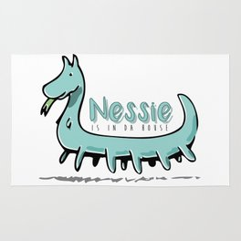 Nessie is in da house Rug