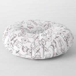 Coffee time Floor Pillow