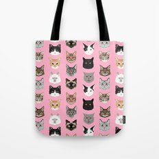 Cats Cats Cats purrfect gift present for cat lover cat lady cat man all cat breeds by pet friendly Tote Bag