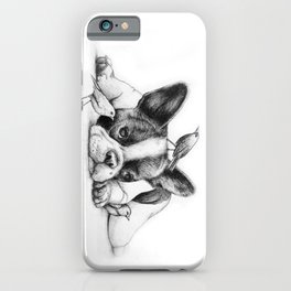 Frenchie and the Birds iPhone Case