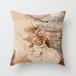 Mice by Beatrix Potter Throw Pillow