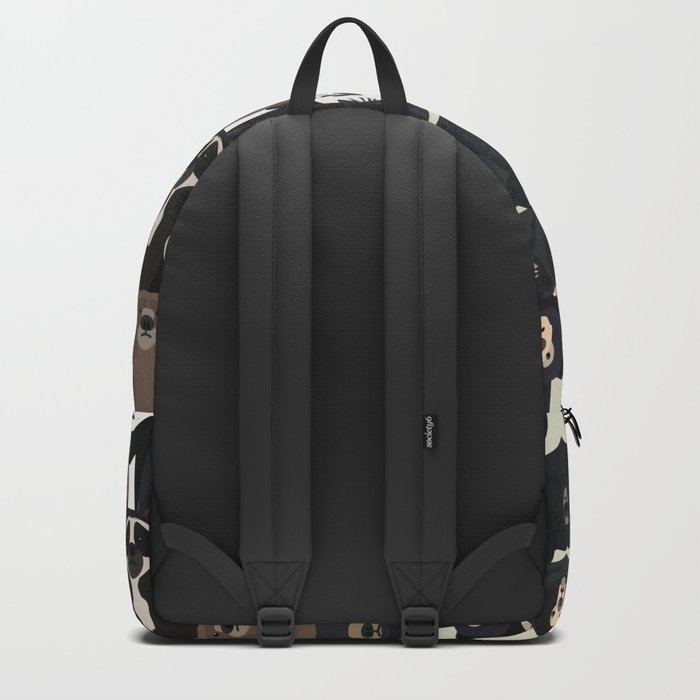 Bears of the world pattern Backpack