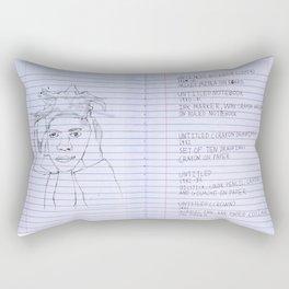 Bosquiat Unknown Notebooks Rectangular Pillow