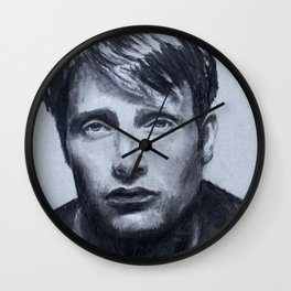 Mads Mikkelsen Wall Clock