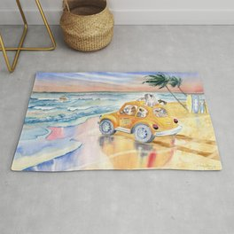 Dogs On Vacation Rug