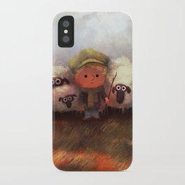 A Boy and His Herd iPhone Case