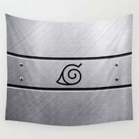 naruto Wall Tapestries featuring Naruto Headband by Kesen