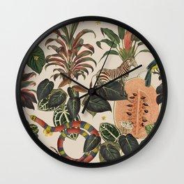 Jungla Crema Wall Clock
