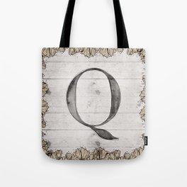 Neutral Monogram Q Tote Bag