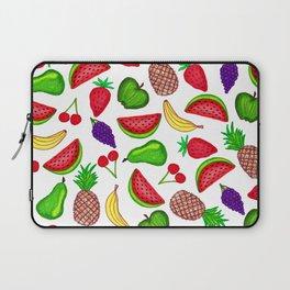 Tutti Fruity Hand Drawn Summer Mixed Fruit Laptop Sleeve