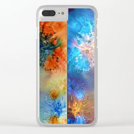 Abstract Rorschach Nebula Clear iPhone Case