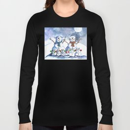 It's Snowing Cats and Dogs (and Mice too) Long Sleeve T-shirt