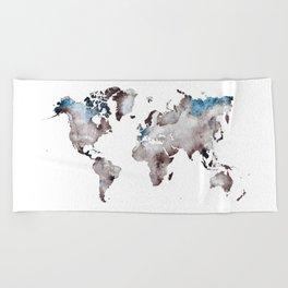 world map 73 Beach Towel
