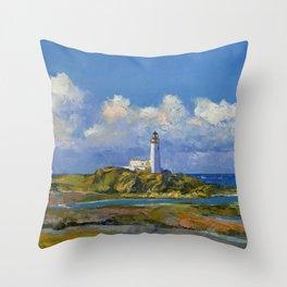 Turnberry Lighthouse Throw Pillow