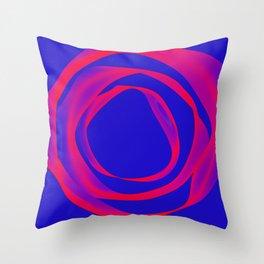 wavy circle 01 Throw Pillow