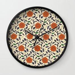 Philip's Flowers Wall Clock