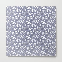 Lunaria - Blue Metal Print
