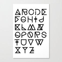 "Print ""Geometrical ABC"" Canvas Print"