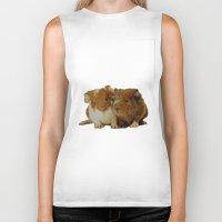 guinea pig Biker Tanks featuring Guinea pigs by Guna Andersone & Mario Raats - G&M Studi