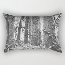 Forest Trail in Black and White Rectangular Pillow