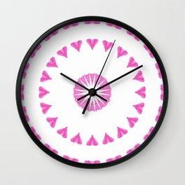 PINK HEART MANDALA Wall Clock