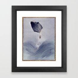 Watanabe Seitei Jumping Fish Framed Art Print