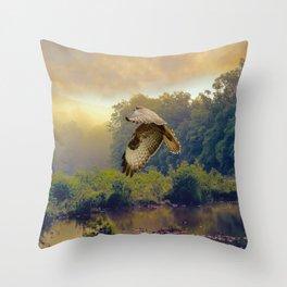 Morning Buzzard Throw Pillow